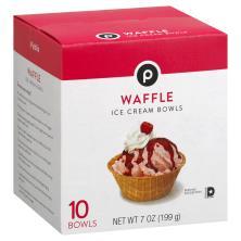 Publix Ice Cream Bowls, Waffle