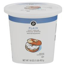 Publix Cream Cheese Spread, Plain, Soft