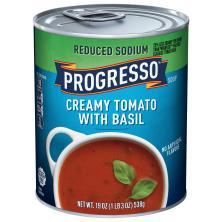 Progresso Soup, Reduced Sodium, Creamy Tomato with Basil