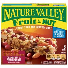 Nature Valley Granola Bars, Chewy Trail Mix, Fruit & Nut, Cranberry & Pomegranate