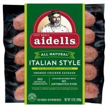 Aidells Sausage, Smoked Chicken, Italian Style, with Mozzarella Cheese