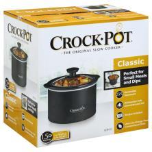 Crock Pot Slow Cooker, Classic, Round, 1.5 Quart