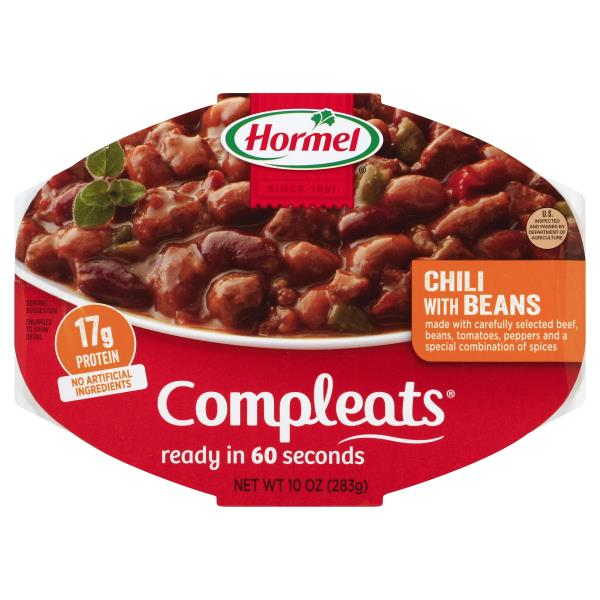 Hormel Compleats Chili, with Beans