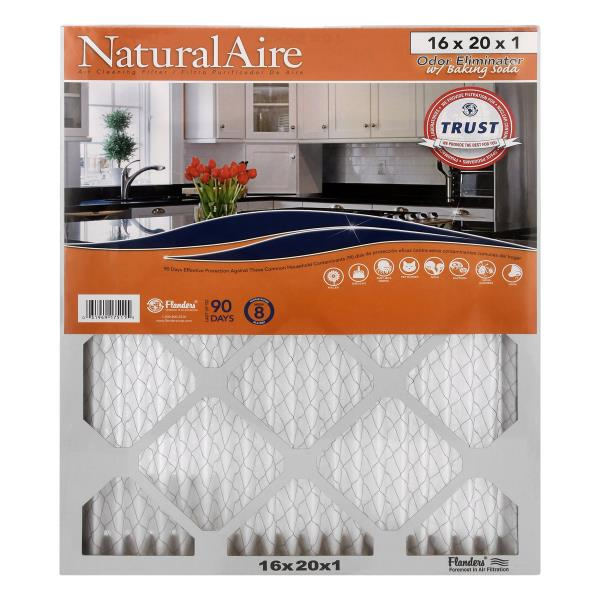 NaturalAire Air Cleaning Filter, Odor Eliminator w/Baking Soda, 16 x 20 x 1