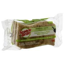Scotch Brite Greener Clean Sponges, Scrub, Non-Scratch