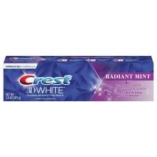 Crest 3D White Toothpaste, Fluoride Anticavity, Radiant Mint