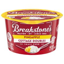 Breakstones Cottage Doubles Cottage Cheese, 2% Milkfat, Lowfat, Pineapple