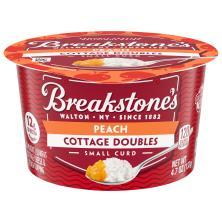 Breakstones Cottage Doubles Cottage Cheese, 2% Milkfat, Lowfat, Peach