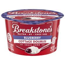Breakstones Cottage Doubles Cottage Cheese, 2% Milkfat, Lowfat, Blueberry