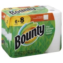 Bounty Paper Towels, Big Rolls, Full Sheets, White, 2 Ply
