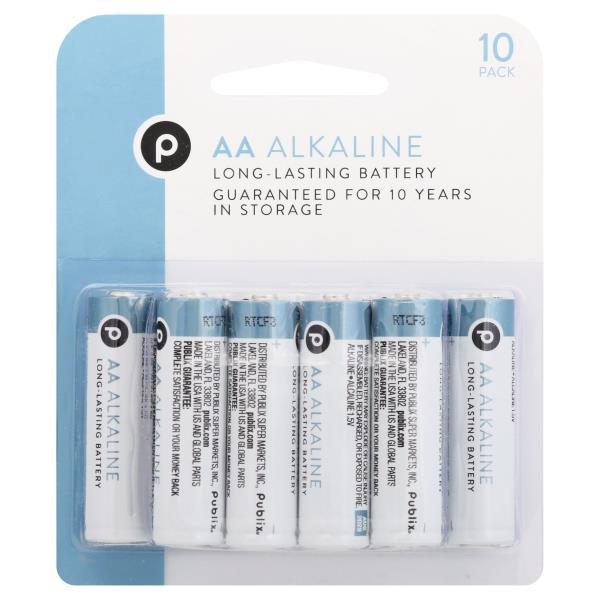 Publix Batteries, AA, Alkaline