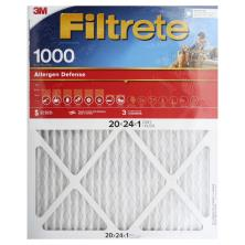 3m Filtrete Air Cleaning Filter, Micro Allergen Reduction 20x24x1