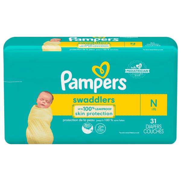 Pampers Swaddlers Diapers, Size N (Less than 10 lb ... | 600 x 600 jpeg 35kB