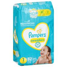 Pampers Swaddlers Diapers, Size 1 (8-14 lb), Blankie Soft Heart Quilts, Jumbo Pack