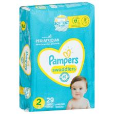 Pampers Swaddlers Diapers, Size 2 (12-18 lb), Blankie Soft Heart Quilts, Jumbo Pack