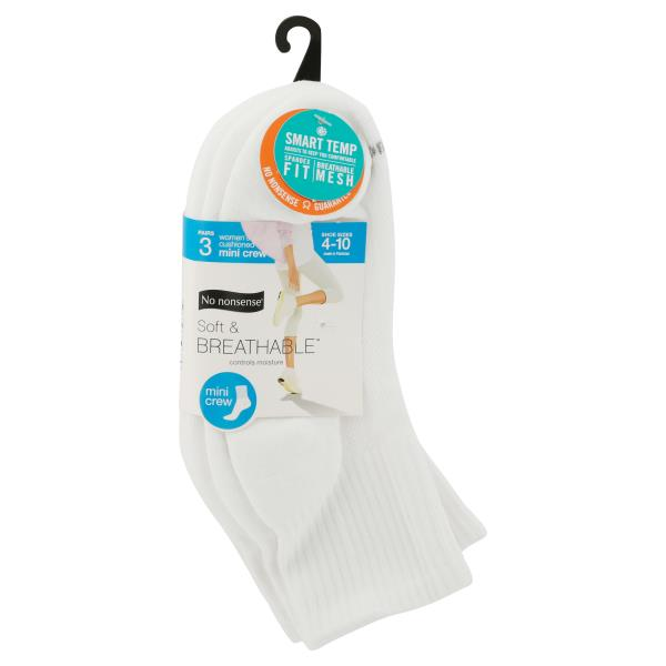 No Nonsense  Socks, Cushioned Mini Crew, Women's