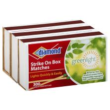 Diamond Greenlight Matches, Strike On Box, Large Kitchen