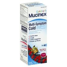 Mucinex Children's Cold, Multi-Symptom, Liquid, Very Berry Flavor