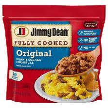 Jimmy Dean Sausage, Pork, Crumbles, Original