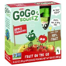 GoGo Squeez Applesauce Pouches, Apple Strawberry