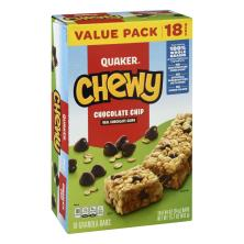 Quaker Chewy Granola Bars, Chocolate Chip, Value Pack