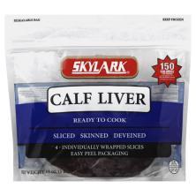 Skylark Calf Liver, Skinned, Deveined, Sliced