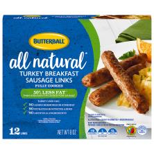 Butterball Natural Inspirations Sausage, Turkey Breakfast, Links