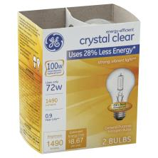 GE Light Bulbs, Halogen, Crystal Clear, 72 Watts