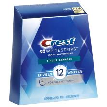 Crest 3D White Dental Whitening Kit, No Slip Whitestrips