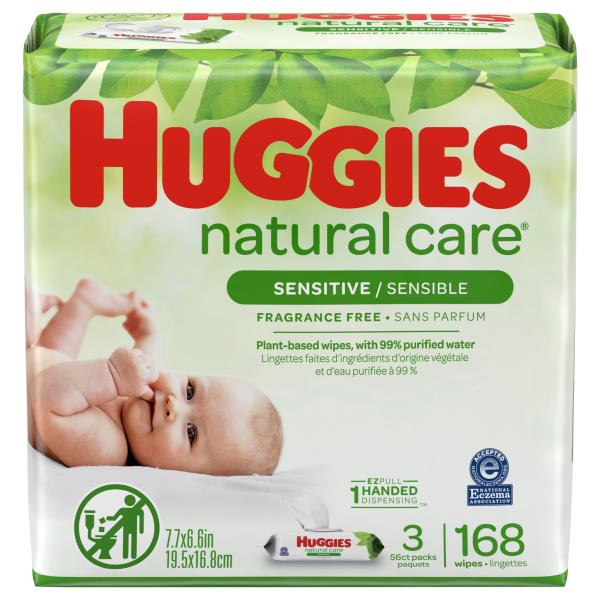 Huggies Natural Care Wipes, Fragrance Free