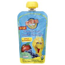 Earths Best Organic Yogurt Smoothie, Organic Fruit, Apple Blueberry, 123 Sesame Street
