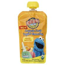 Earths Best Organic Yogurt Smoothie, Organic Fruit, Peach Banana, 123 Sesame Street