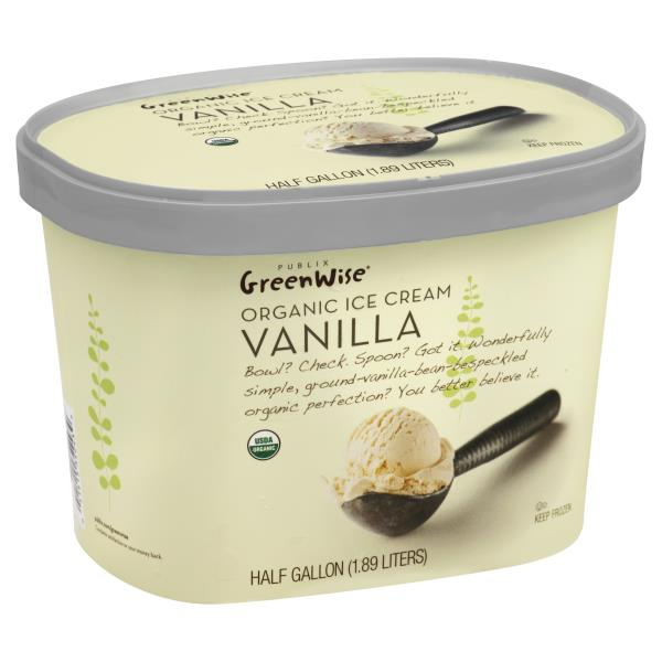 GreenWise Ice Cream, Organic, Vanilla