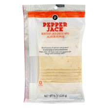 Publix Monterey Jack with Jalapeno Peppers, Cheese Slices 8-Oz Pkg