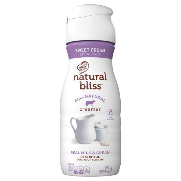 Coffee Mate Natural Bliss Coffee Creamer, Sweet Cream Flavor