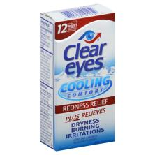 Clear Eyes Eye Drops, Lubricant/Redness Reliever, Cooling Comfort