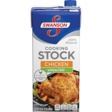 Swanson Cooking Stock, Unsalted, Chicken