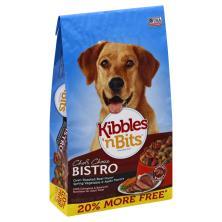 Kibbles N Bits Chef's Choice Dog Food, Oven Roasted Beef Flavor Spring Vegetable & Apple Flavors, Bistro, Bonus Bag!