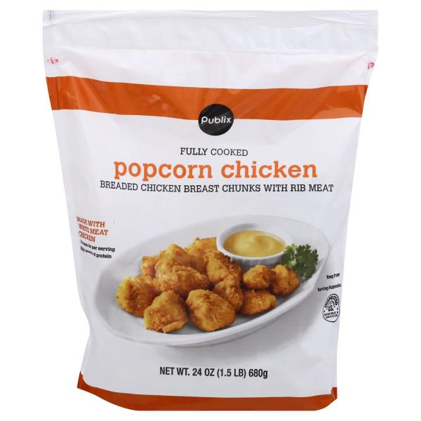 Publix Popcorn Chicken, Breaded, Fully Cooked