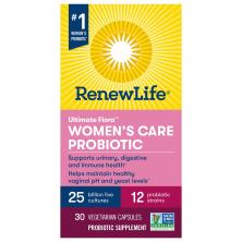 ReNew Life Ultimate Flora, Women's Care Probiotic, 25 Billion, Vegetable Capsules