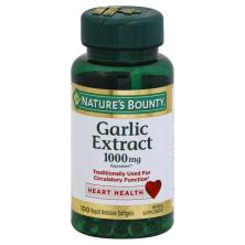 Natures Bounty Garlic Extract, 1000 mg, Rapid Release Softgels