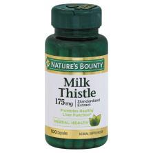 Natures Bounty Milk Thistle, 175 mg, Capsules