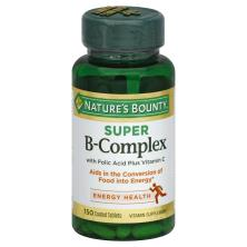 Natures Bounty Super B-Complex, Coated Tablets