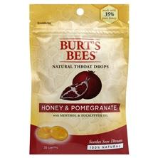 Burts Bees Throat Drops, Natural, Honey & Pomegranate