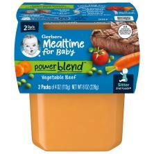 Gerber 2nd Foods Vegetable Beef Dinner, Sitter