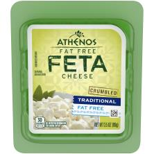 Athenos Cheese, Crumbled, Feta, Traditional, Fat Free