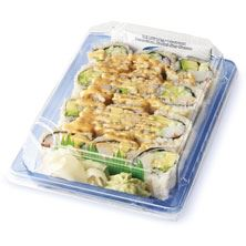Afc Sushi Spicy California Roll, Brown Rice, Prepared in Store, Ready to Eat