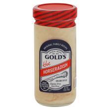 Golds Horse Radish, Prepared, Cream Style, Hot
