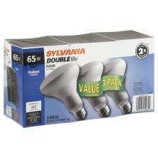 Sylvania Double Life Light Bulbs, Indoor, Flood, Value 3 Pack