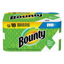 Bounty Paper Towels, Large Rolls, Select-A-Size, White, 2 Ply